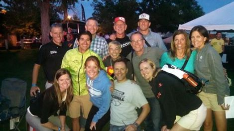 group pic with at the welcome ceremony…we are pumped up to race!