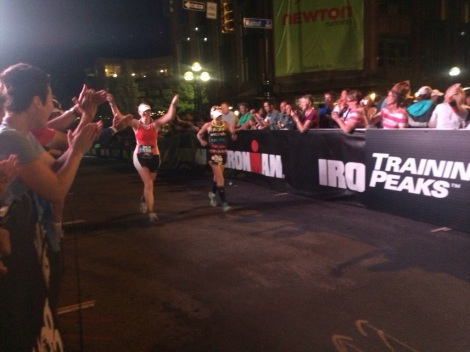 I got to watch so many people become ironman, including my friends kari & ashley. what a moment!
