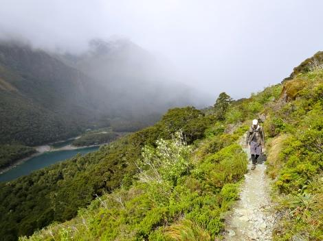 on the trail above lake mackenzie