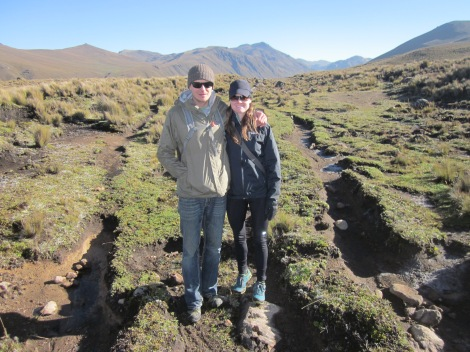 on a clearly defined section of the inca trail