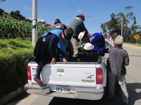 we picked up several indigenous farmers on our way down