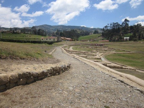 the Inca Trail within the ruins