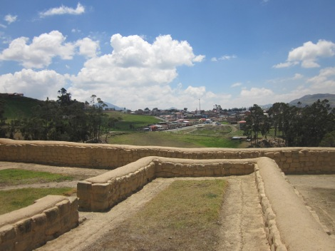 the town of Ingapirca, as seen from the ruins