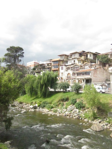 our first two nights, we stayed at hostal casa del barranco on the river