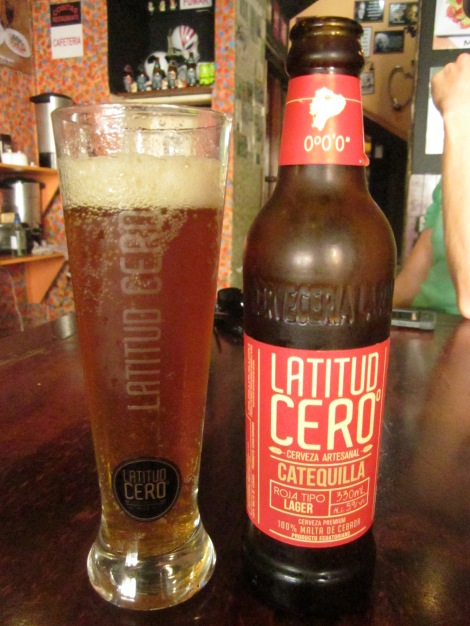 i even enjoyed an ecuadorian craft beer during the game