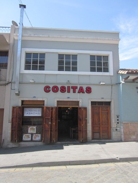 cositas...where we had our first meal in cuenca