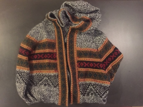 hooded alpaca sweater $18