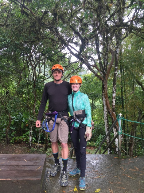 all geared up and ready to zipline!