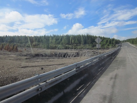 glacier damage (the road has since been repaired)