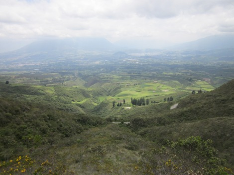 view of the valley below