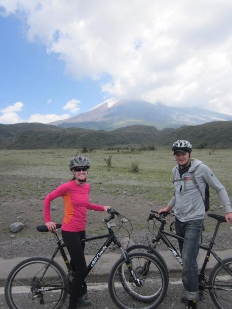 riding past cotopaxi