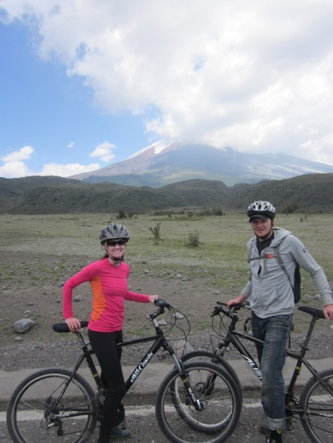 riding past cotopaxi